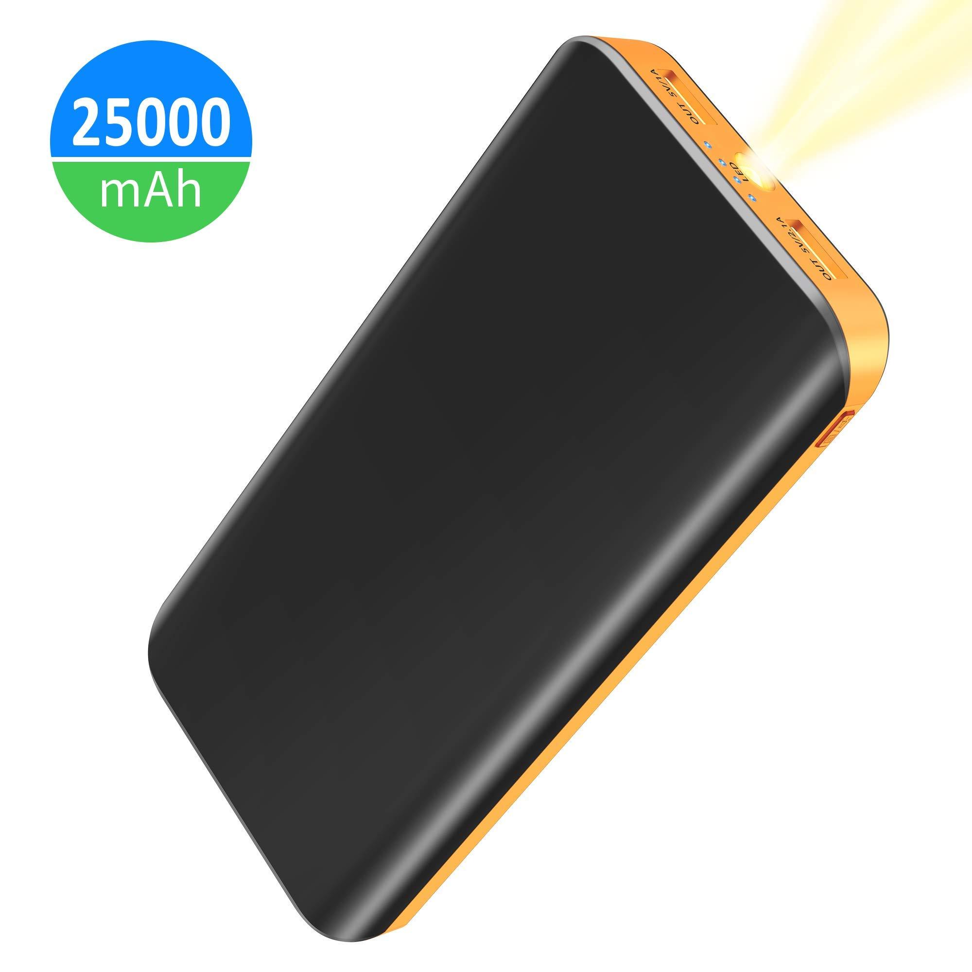 FKANT Batería Externa 25000mAh, Power Bank Alta Capacidad con 2 ...