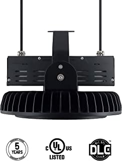 Adiding LED High Bay Light,300W UFO Hi-Bay Lighting(1200W HID/HPS Equivalent) 39000 Lumens 130Lm/W Meanwell Driver Dimmable 5000K,Lumileds SMD 3030 LED for Garage Warehouse,UL Listed,IP65-Black