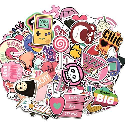 FSVGC Waterproof Pink Cute Unicorn Sticker Luggage Suitcase Car Laptop Decal Sticker Bomb Girl Gift 110Pcs