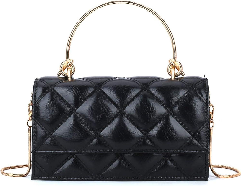 Lidoudou Damen Tasche Retro wild Kette eine Schulter Mode tragbare Messenger Bag Größe (Höhe 14cm, Breite 20cm) Material PU B07MQV1X9B  Abgabepreis