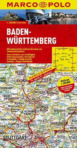 MARCO POLO Karte Baden-Württemberg 1:200.000 (MARCO POLO Karten 1:200.000)