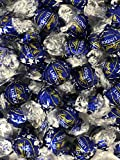 Lindt Lindor Dark Chocolate Kosher Chocolate Truffles Box of 100 Truffles Individually Wrapped Blue Foil Candy (Dark Blue)