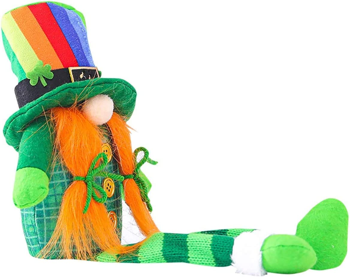 2 New mail order Pcs St. Patrick's lowest price Day Decoration Ornaments Irish Gnomes Cute