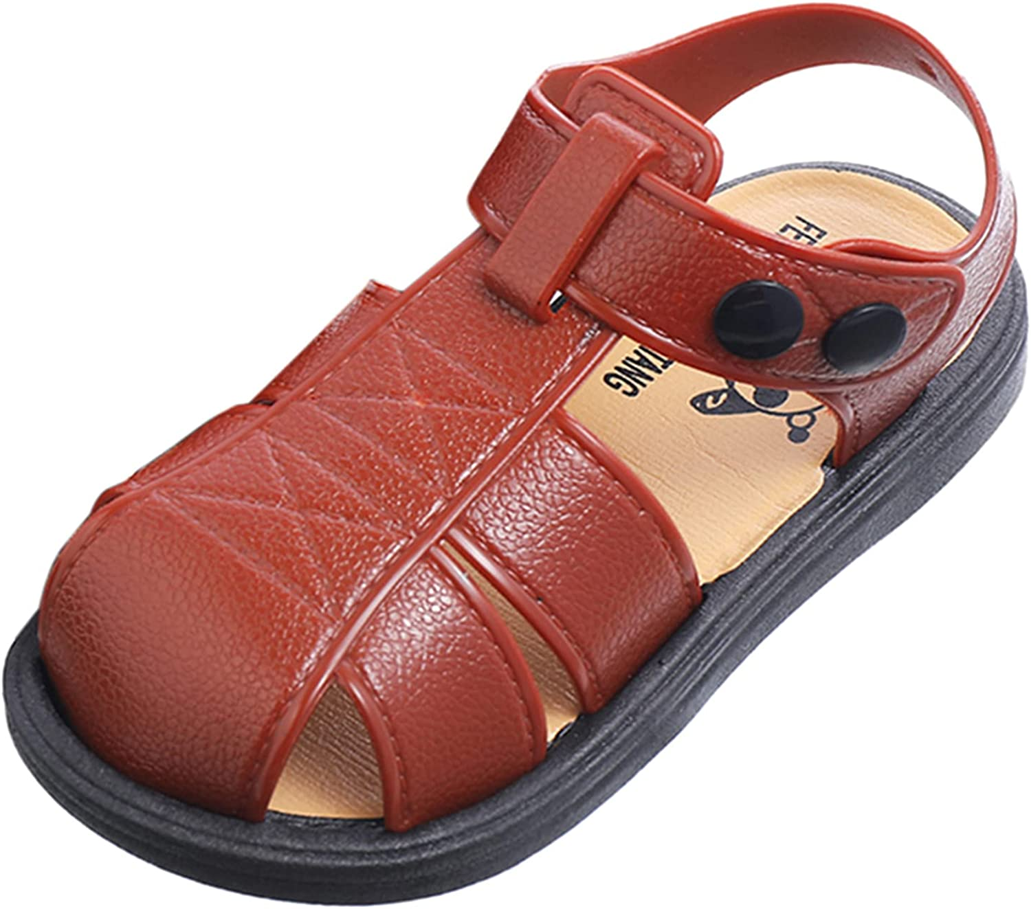Sport Sandal Lightweight Soft Sole Closed Toe Protects Feet Long Lasting Durability 9-12 Months Infant and Toddler Layette Sets Black Wedge Sandals Summer