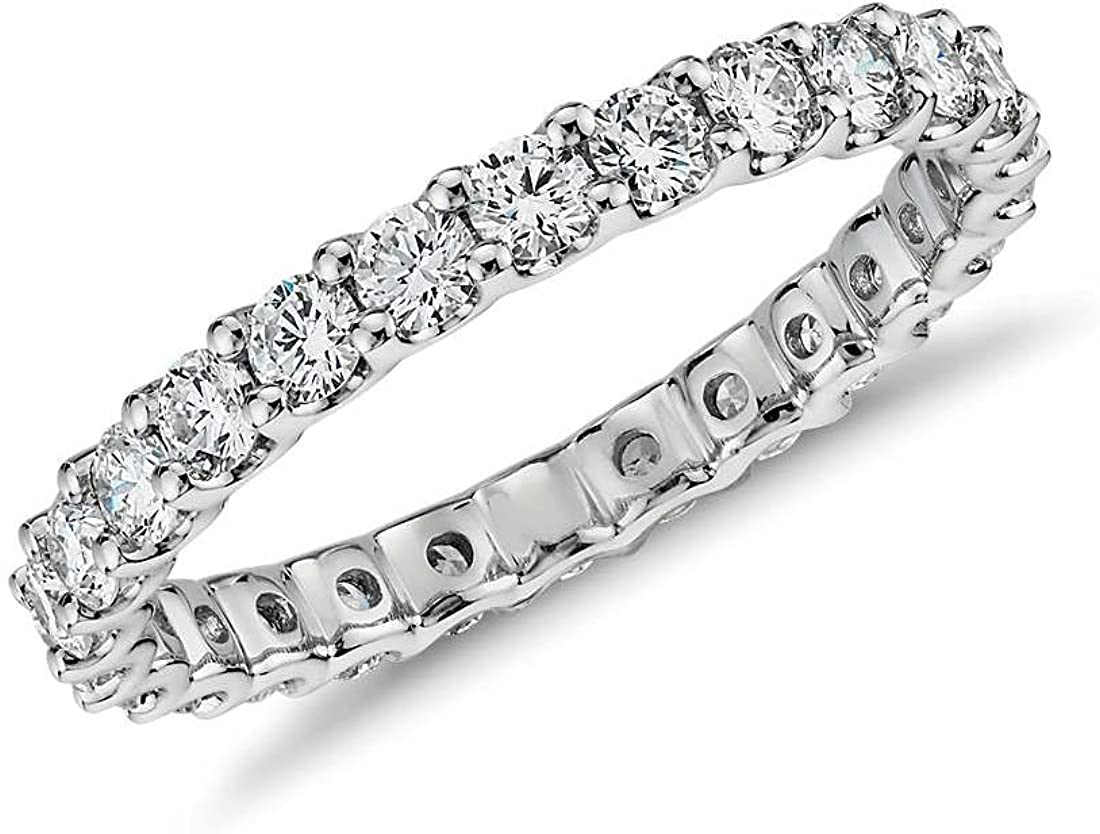 NYC Sterling 2.50mm Silver Eternity Cubic 925 It is very OFFer popular Zirconia