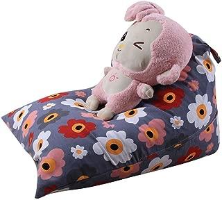 wuliLINL Kids Stuffed Animal Plush Toy Storage Bean Bag Soft Pouch Stripe Fabric Chair