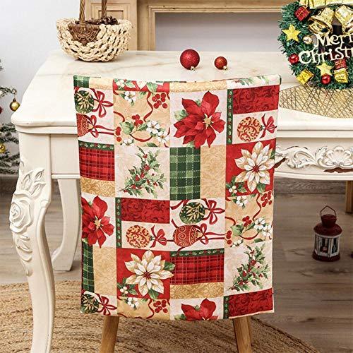 LLAAIT Weihnachtsstuhl-Rückenlehne, Weihnachtsmann-Hut, Weihnachtsdekoration für Zuhause, Neujahr, Abendessen, Dekoration, Frohe Weihnachten, Heimdekoration