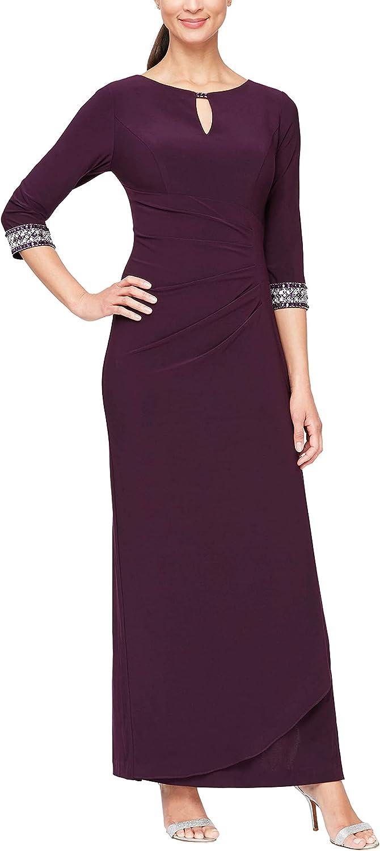 Alex Evenings Women's Dress with Keyhole Cutout (Petite and Regular)