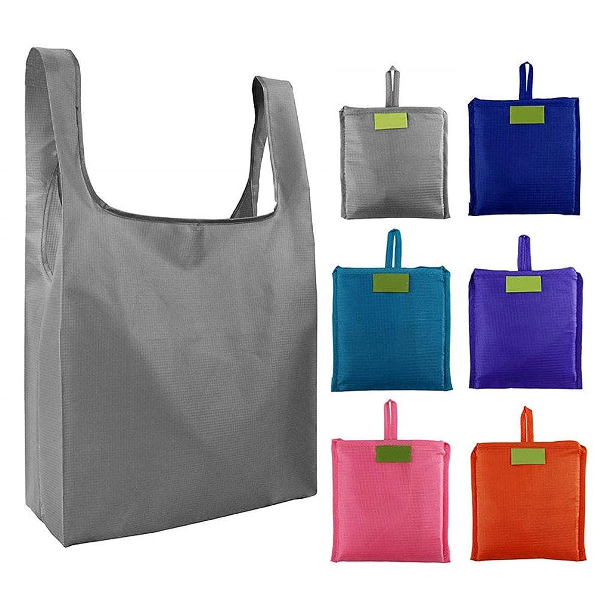 トーナメントシーサイド想像するSHUIYANG エコバッグ 大容量 買い物バッグ 防水エコバッグ 簡単 折り畳み ポケットサイズ スクエアバッグ おしゃれ コンパクト 収納 おおきめ ショッピングバッグ 洗い可 繰り返し使用 6個セット