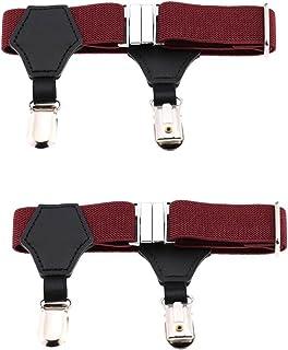 CHUANGLI Adjustable Elastic Sock Garters Metal Clips Sock Suspenders Holders 1 Pair