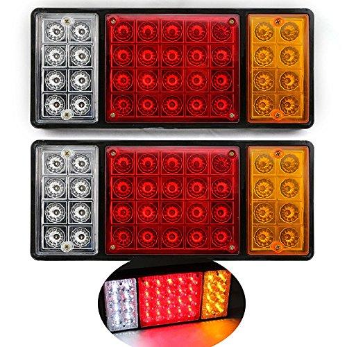 2 x wasserdichte Anhängerrücklichter Rücklicht 36 LED DC12V Kontrollleuchte für LKW-Bootsanhänger