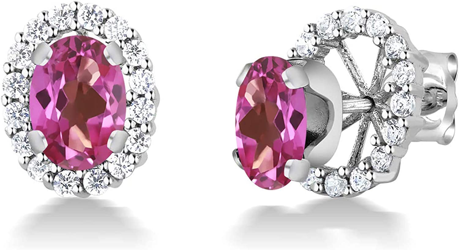 Gem Stone King 925 Sterling OFFicial site Silver Oval Topaz Remova Pink Mystic Ranking TOP7