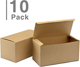 GSSUSA 9x4.5x4.5 Inches 10PCS Gift Boxes Brown Kraft Paper Boxes for Party, Birthday, Wedding, Gift Wrapping