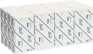 Scott 4457 Scott Large Optimum Hand Towels, White, 150 Towels/Pack, Case of 16 Packs, White 4.497 kilograms