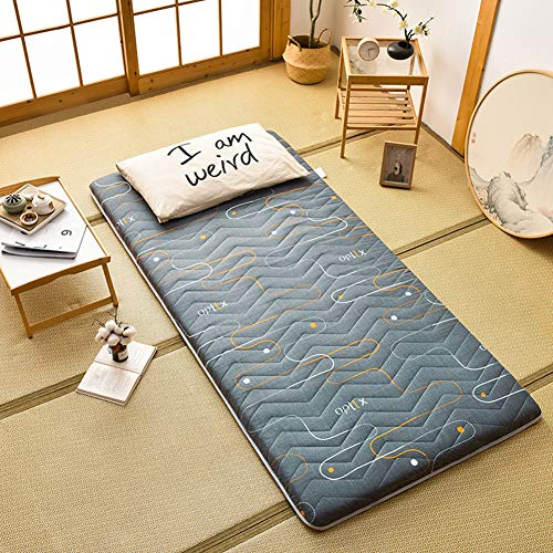 jejfdie Padded Collapsible Mattress,Polyester Breathable Floor Sleeping Mattress,Student Dormitory Mattress F 120x200cm(47x79inch)