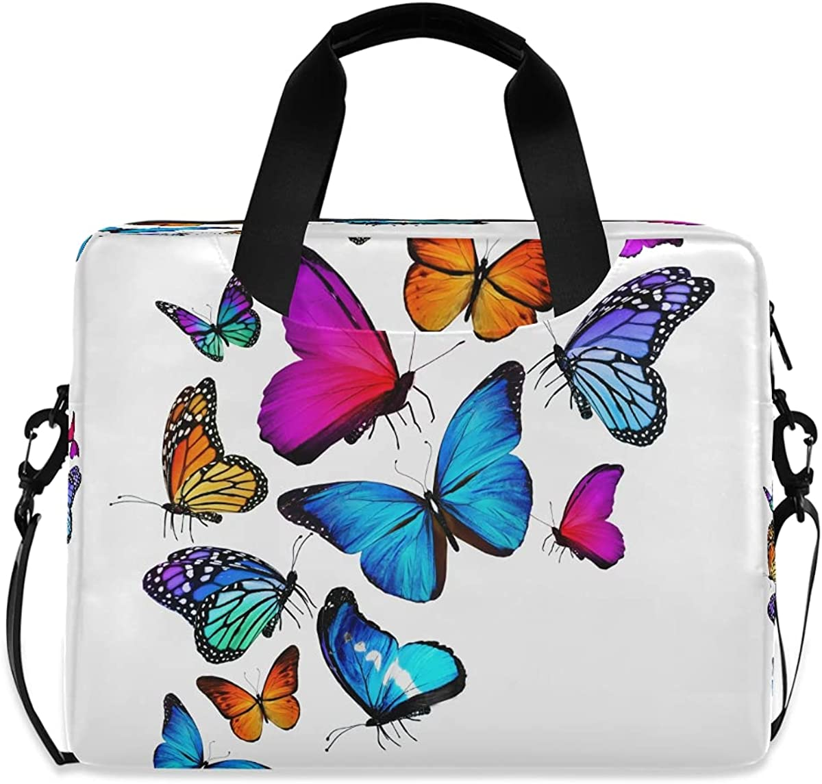 BOLOLI Max 84% OFF Rainbow Butterfly Laptop Case Colorful Briefcase New mail order Sleeve
