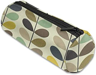 Orla Kiely Wallpaper Cylinder Toiletry Travel Bag Pencil Pouch With Zip Close