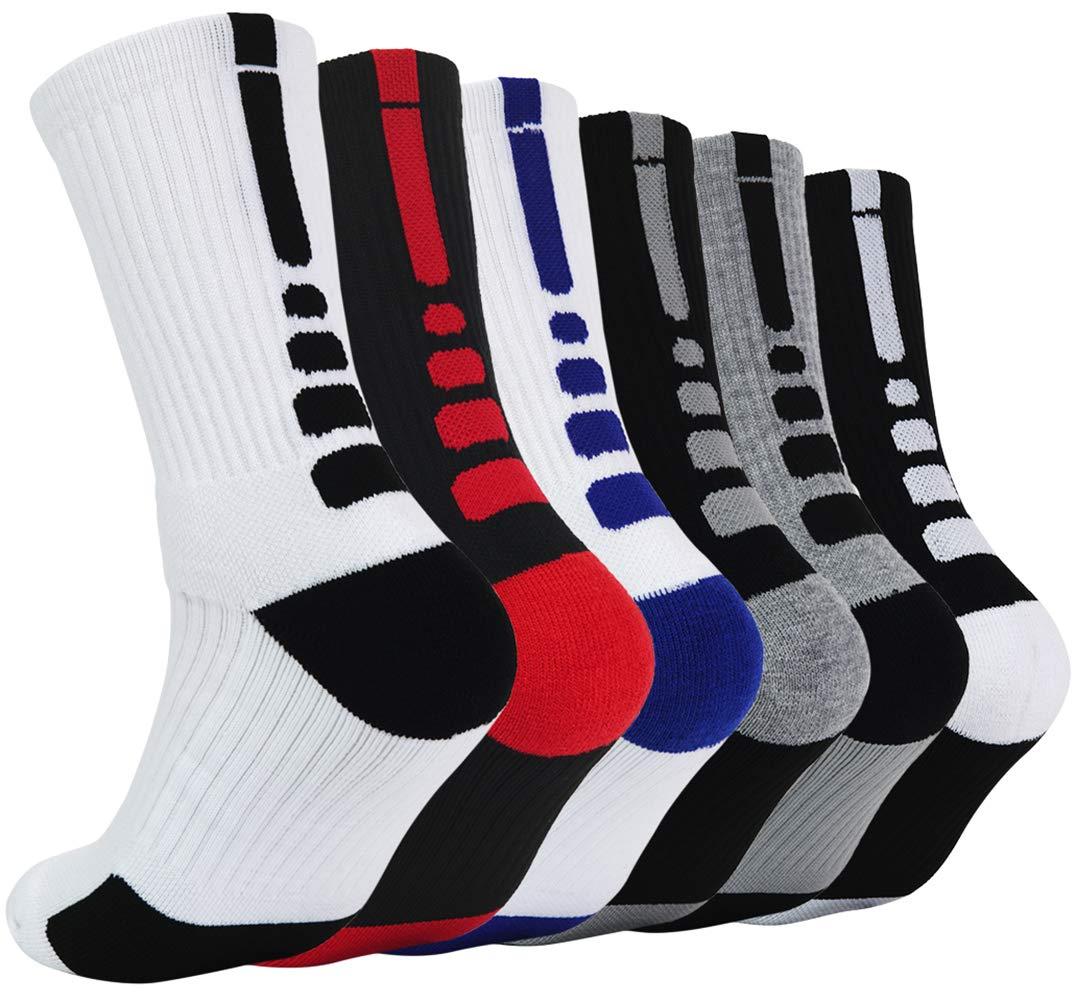 Elite Basketball Socks Athletic Socks Cushion Compression Socks for Men Women Boys