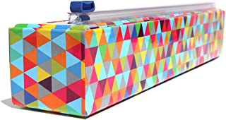 Chicwrap Triangle Refillable Plastic Wrap Dispenser/Slide Cutter and 250' of Professional BPA Free Plastic Wrap