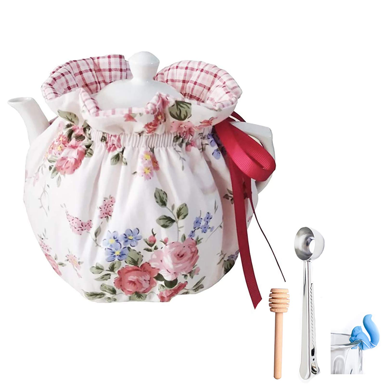 VOSOL 100% Cotton Printed Tea Cosy for Teapot Keep Warm Double ...