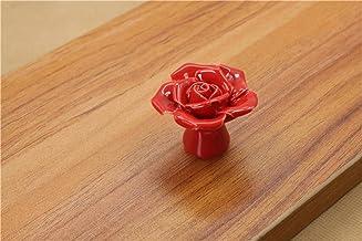 keramische bloem roos lade knoppen landelijke kast kast handgrepen 41mm diameter 34mm hoogte mode meubilair handgrepen har...