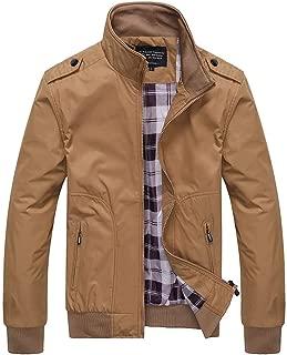 Sunward Men's Coats Jackets,Men's Autumn Winter Casual Fashion Pure Color Patchwork Jacket Zipper Outwear Coat