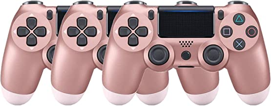 $63 » Goukano Rose Gold PS4 Controller Wireless Bluetooh with Dual Vibration (3 Pink)