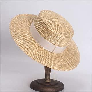 Sun Hat for men and women Couple Hat Sun Hat Straw Straw Hat Spring Summer Ladies Flat Top Visor Holiday Travel Sun Hat Panama Hat