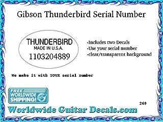 Gibson Thunderbird Serial number Guitar Decal Headstock Waterslide Restoration logo 269