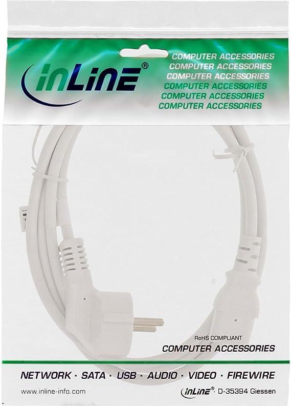 Inline 16647e Netzkabel Schutzkontakt Gewinkelt Auf Computer Zubehör