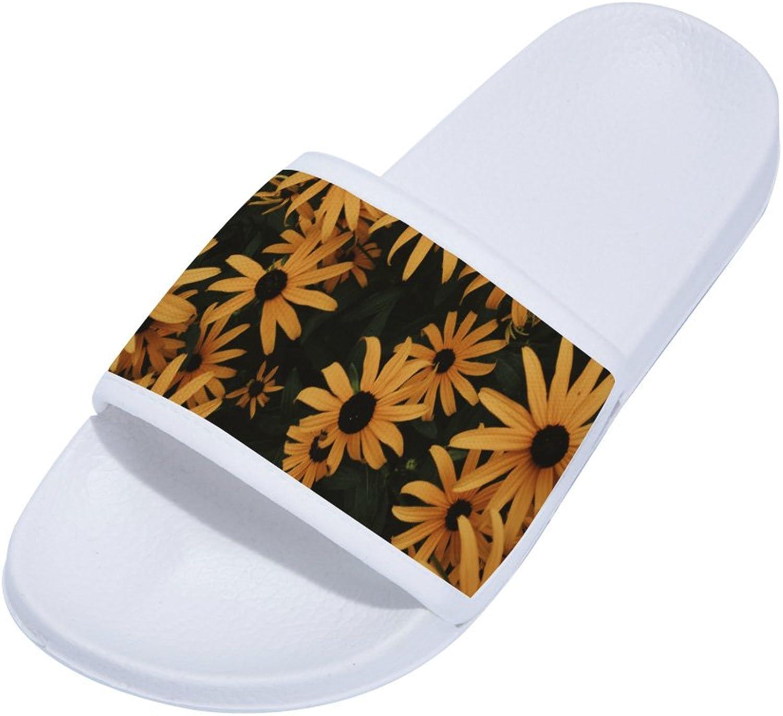 Buteri Summer Slippers Daisy Non-Slip Quick-Drying Slippers for Womens