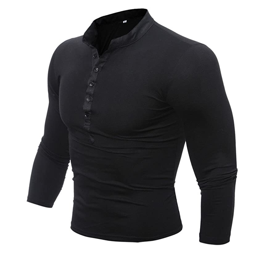 Inverlee-Mens Spring Autumn Cotton T Shirt Men Solid Color Tshirt Long Sleeve Top