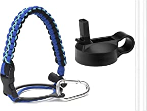 Sportula Best Paracord Handle for Hydro Flask Wide Mouth Bottles, with Safety Ring and Carabiner, Plus One Insulated Wide ...