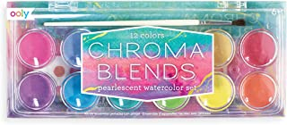 Ooly Chroma Blends Watercolor Set, 12 Colors - Pearlescent