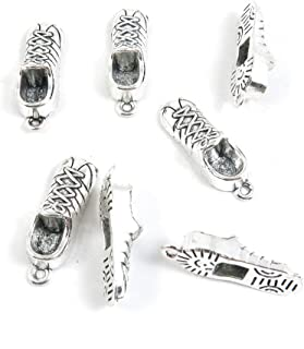 60 Pieces Antique Silver Tone Jewelry Making Charms Pendant Findings Craft Supplies Bulk Lots Arts H0NB1 Sports Shoes Sneakers