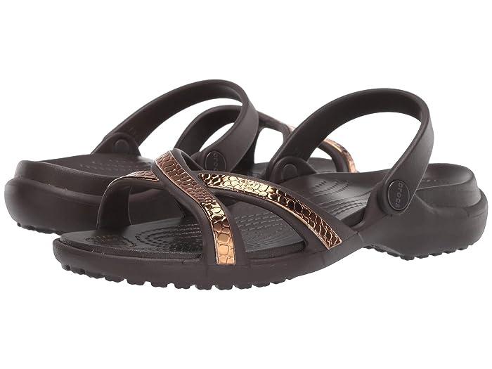 Crocs Womens Meleen Metallic Cross Band Slide Sandal
