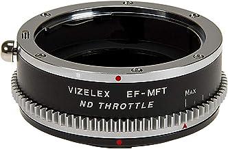 Vizelex Cine ND - Adaptador de objetivo de acelerador compatible con Canon EOS (EF/EF-S) D/SLR a Micro Four Thirds (MFT) montura sin espejo para cámara con filtro ND variable incorporado (1-8 paradas)