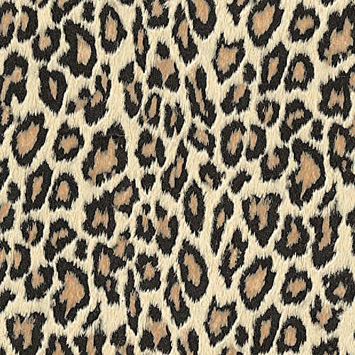 Klebefolie Bengal roux Motiv, Dekofolie Leopard, Animal Print Möbelfolie, Leo-Style,Tapete, selbstklebende Folie, PVC, ohne Phthalate, grau, 45cm x 1,5m, Stärke 0,095mm, Venilia 54703