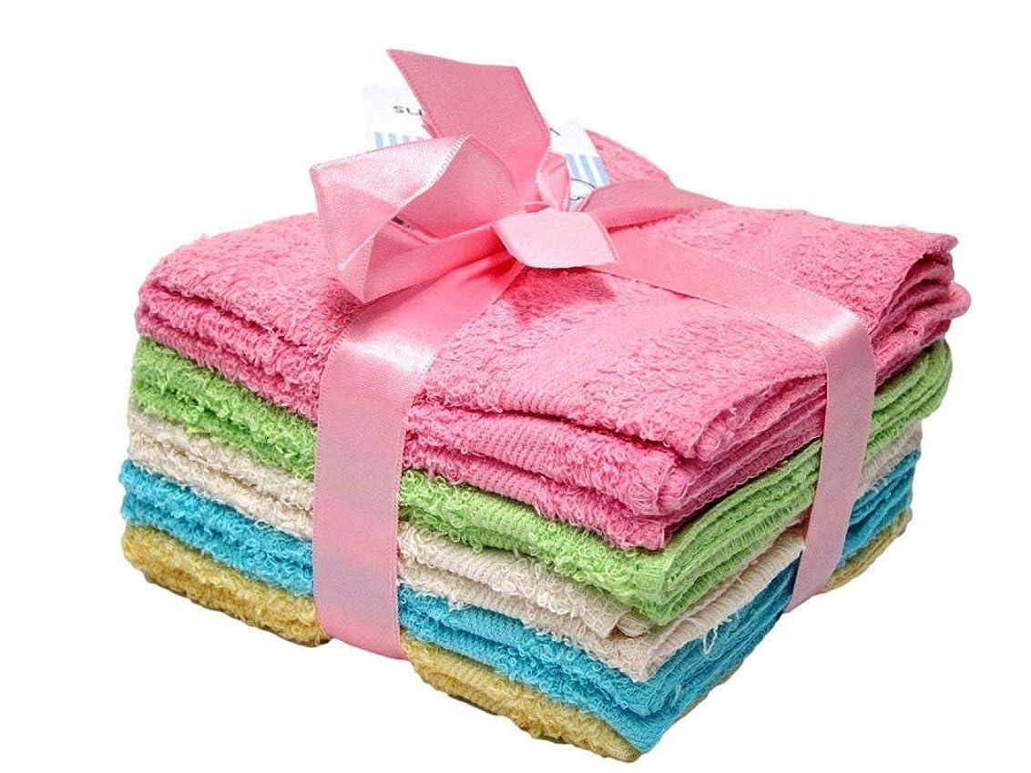 寛大さマイクロ叫ぶBest製品デラックス100?%コットンWashclothsクリーニング洗濯機可Rags、Wash Clothsのバスルーム、色May Vary?–?10パック