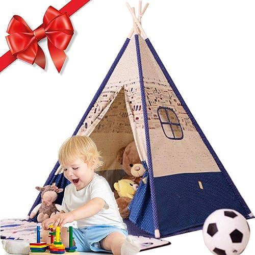Depruies Indoor Kinderzelt Spielhaus Packen Baby Kletterzelt Indoor Spielzimmer Kids Tipi Kinder Spielzelt, B,