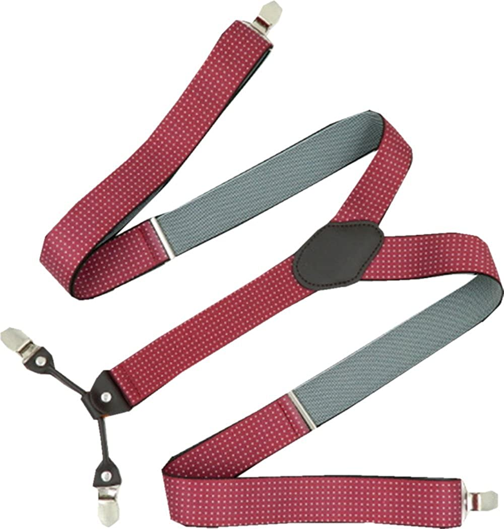 YUNEE Suspenders Modern Trousers Pants Men Y Shape 3.5 x 125 cm 4 Clips