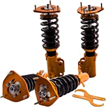 Racing Coilovers Struts for Toyota Corolla 1988-1999 AE92-AE111 E90 E100 E110 Shocks Suspensions Coil Springs Adj. Height - Golden
