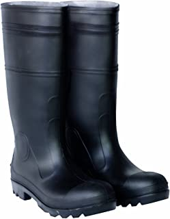 CLC Custom Leathercraft Rain Wear R23011 Over The Sock Black PVC Men's Rain Boot, Size 11