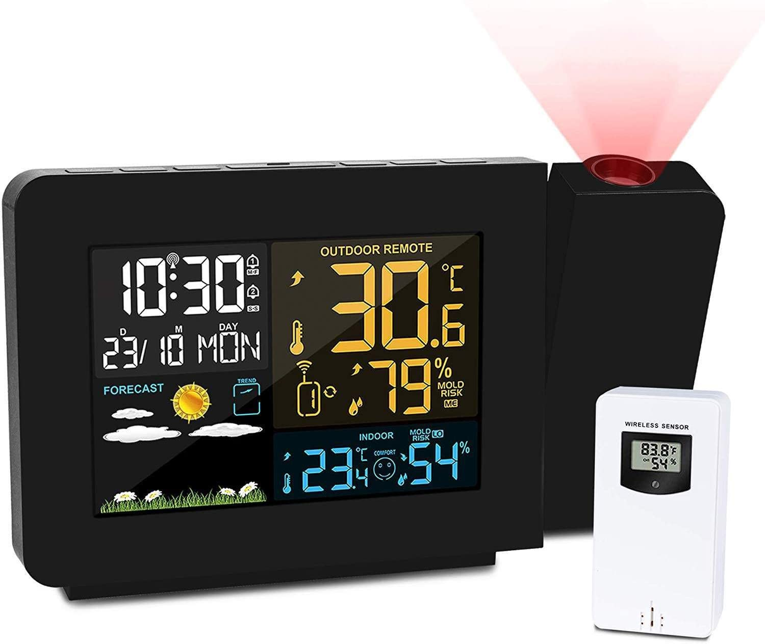 YINGHUI Projection Alarm OFFicial shop Clock for Weather Station Bedrooms Ranking TOP8 with