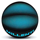 Millenti Cool Basketball Ball Outdoor Indoor - Premium Rubber Basketballs Official Size 7 with High-Visibility, Easy-to-Track Designs, Precision Blue Basketball - 29.5, BB0307BL