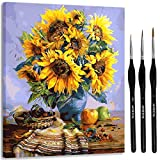 ARTSY ETTA Paint by Numbers for Adults with Frame Premium Brushes and Hanging Wire Adult Paint by Number Kits on Canvas DIY Number Painting