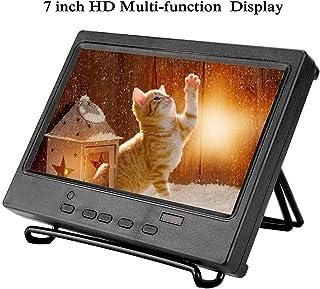 Bewinner 7 Pulgadas 1024 x 600 Monitor Portátil Pantalla Multifunción Compatible con HDMI/VGA/AV Entrada para Raspberry Pi, Pantalla de Automóvil, CCTV, etc 8ms Tiempo de Respuesta(EEUU pulg)