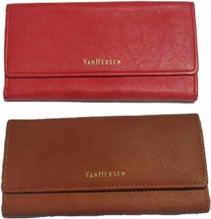 Van Heusen Crimson & Tan Synthetic Women's Wallet (Van Heusen Wallet Green) (Pack of 2)