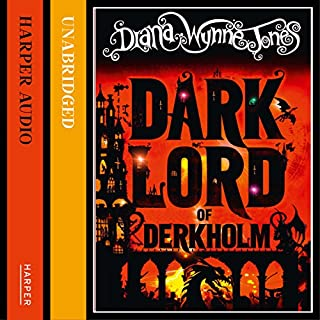 The Dark Lord of Derkholm                   By:                                                                                                                                 Diana Wynne Jones                               Narrated by:                                                                                                                                 Jonathan Broadbent                      Length: 13 hrs and 29 mins     76 ratings     Overall 4.4