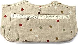 バッグインバッグ はんなりどっと レディース インナーバッグ bag in bag トラベルポーチ かばん 取っ手付き ポケット 収納 ベージュ ドット